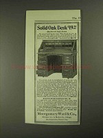1903 Montgomery Ward Solid Oak Desk Ad