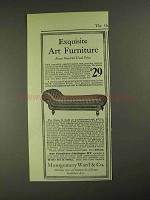 1903 Montgomery Ward Oak, Leather Couch Ad