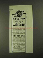 1903 The North-Western Line Railway Ad - California