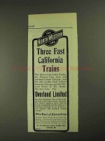 1903 The North-Western Line Railways Ad - Fast Trains