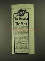 1903 The North-Western Line Ad - To Omaha and the West