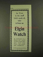 1903 Elgin Watch Ad - Time is Stuff Life's Made Of