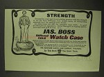 1903 Keystone Jas. Bross Stiffened Gold Watch Case Ad - Strength