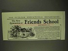 1903 Friends School Ad - The New Gymnasium