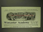1903 Worcester Academy Ad - 70th Year Begins