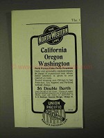 1903 The North-Western Union Pacific Line Ad - California Oregon