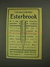 1903 Esterbrook Vertical Writer No. 556 Pen Ad