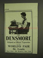 1903 Densmore Typewriter Ad - World's Fair St. Louis
