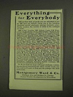1903 Montgomery-Ward Department Store Ad - Everythimg