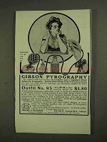 1903 Thayer & Chandler Pyrography Outfit No. 95 Ad