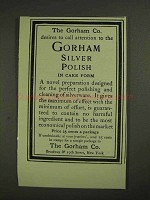 1903 Gorham Silver Polish Ad - Call Attention To