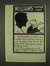 1903 Williams' Shaving Soap Ad - You'll Laugh, Too