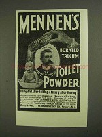 1903 Mennen's Borated Talcum Toilet Powder Ad - Shaving