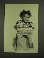 1903 Mennen's Borated Talcum Toilet Powder Ad - Bathing