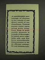 1903 Ivory Soap Ad - Disease Result of Uncleanliness
