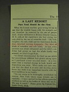 1903 Postum Grape-Nuts Ad - A Last Resort