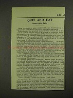 1903 Postum Food Coffee Ad - Quit and Eat