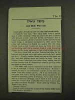 1903 Postum Cereal Coffee Ad - Two Tips Both Winners
