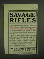 1903 Savage Arms Savage Rifles Ad