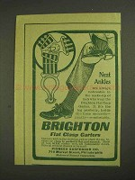 1903 Brighton Flat Clasp Garters Ad - Neat Ankles