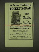 1903 Kodak No. 3A Camera Ad - Folding Pocket Kodak
