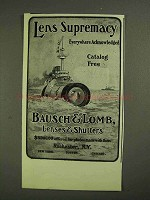 1903 Bausch & Lomb Lenses & Shutters Ad - Supremacy