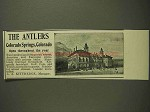 1903 The Antlers Resort Ad - Colorado Springs