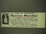 1903 Dominion Atlantic Railway Ad - Nova Scotia