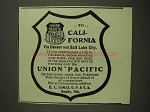 1903 Union Pacific Railroad Ad - To California