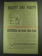 1893 Cuticura Soap Ad - Beauty and Purity