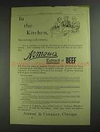 1893 Armour's Extract of Beef Ad - In the Kitchen