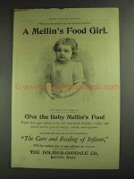 1893 Mellin's Baby Food Ad - Mellin's Food Girl