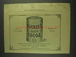 1893 Blooker's Dutch Cocoa Ad - Sold By All Grocers