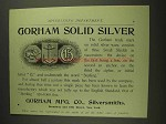 1893 Gorham Solid Silver Ad