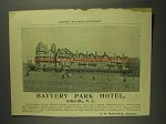 1893 Battery Park Hotel Ad - Asheville, NC