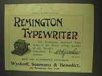 1893 Remington Standard Typewriter Ad