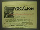 1893 Mason & Risch Vocalion Church and Chamber Organ Ad
