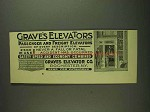 1893 Graves Elevator Ad - Passenger and Freight