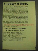 1893 The Aeolian Company Ad - A Library of Music