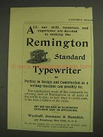 1893 Remington Standard Typewriter Ad - Our Skill