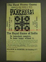 1893 Selchow & Righter Parcheesi Ad - Best Home Game