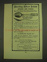 1893 Holmes & Edwards Inlaid Spoons and Forks Ad