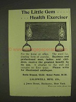 1893 Caldwell Little Gem Health Exerciser Ad