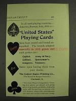 1893 United States Playing Cards Ad - All Countries