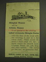 1893 Samuel Cabot Creosote Shingle Stains Ad