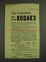 1893 Eastman Kodak Ad - The Columbus