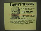 1893 Beeman's Pepsin Gum Ad - The Perfection