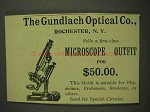 1893 Gundlach Optical Microscope Outfit Ad