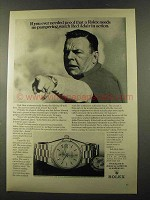 1973 Rolex Oyster Perpetual Day-Date Watch Ad, R. Adair