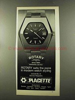 1973 Rotary Watch Ad - Sets Pace in Modern Styling